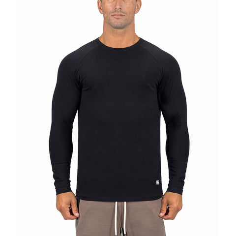 Born Tough Men Core Fit LS Shirt Black