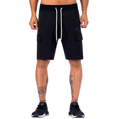 Born Tough Men Cargo Shorts Black