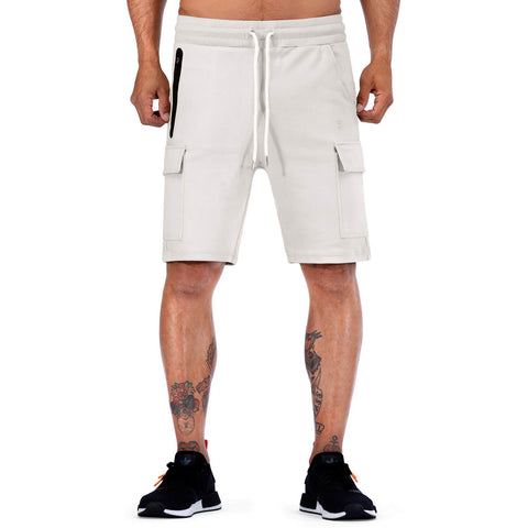 Born Tough Men Cargo Shorts Stone