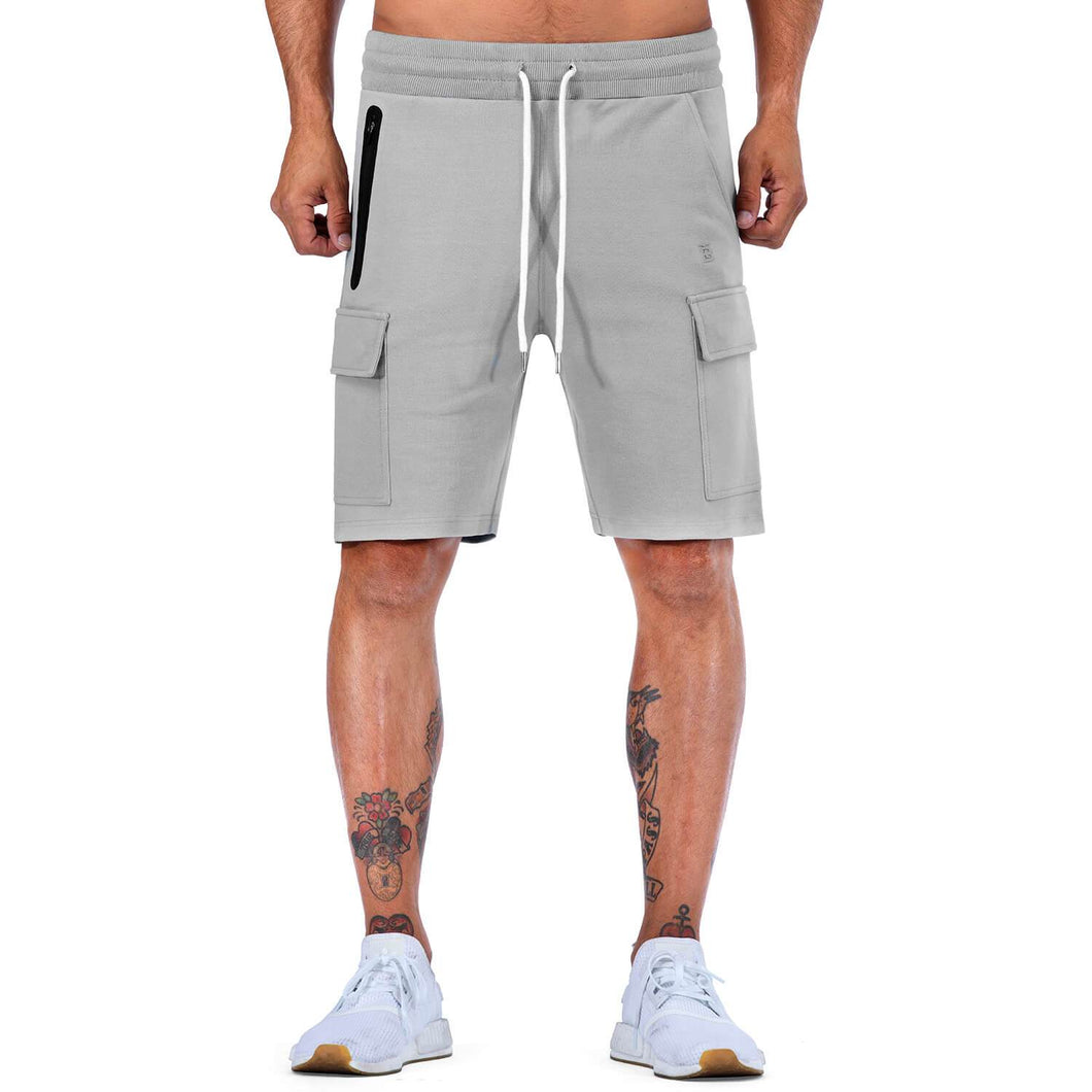 Born Tough Men Cargo Shorts Metal Gray