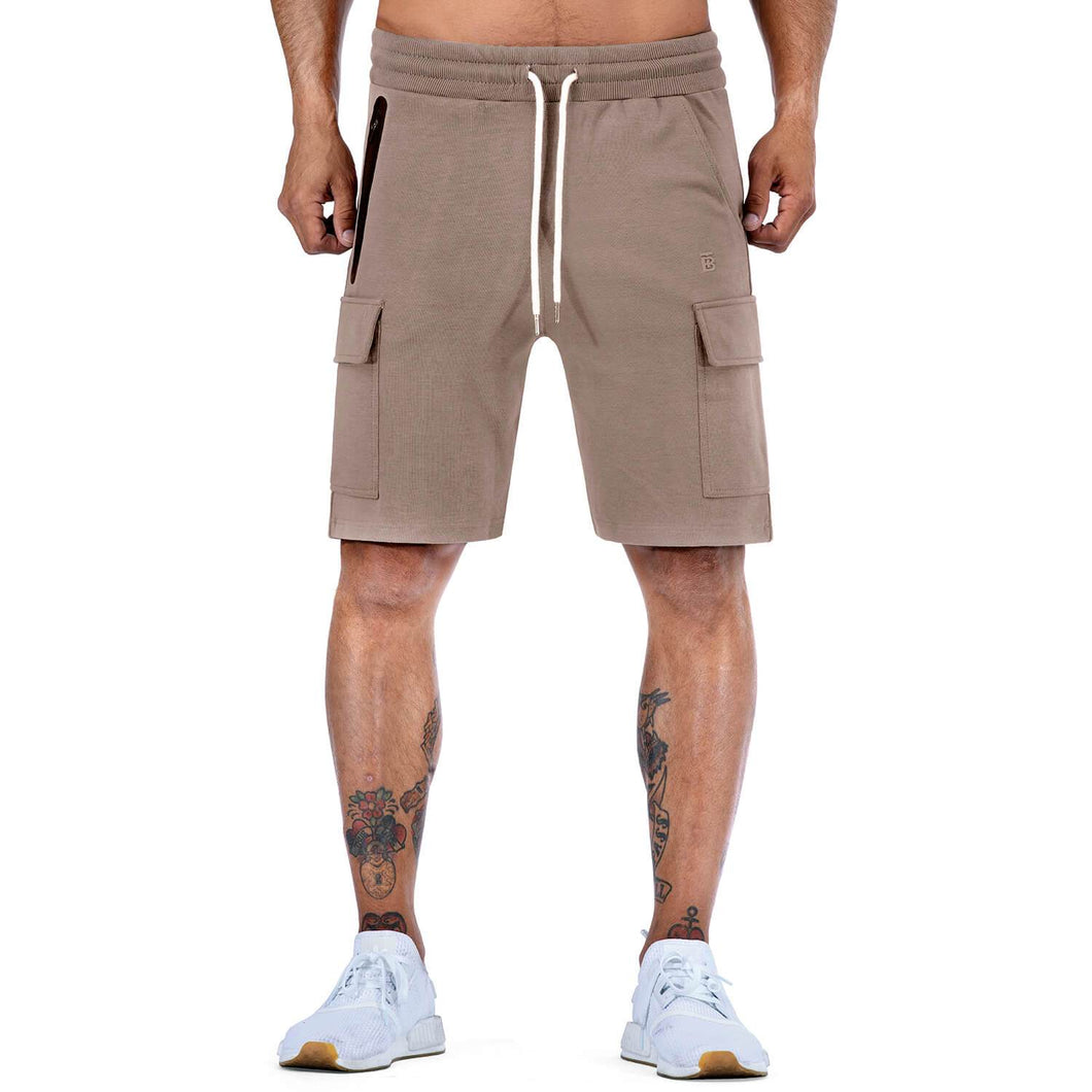 Born Tough Men Cargo Shorts Lunar Rock