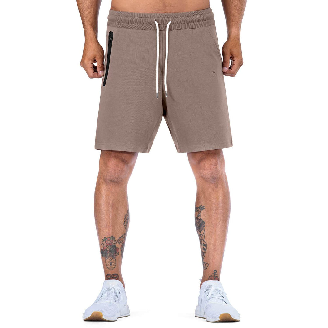 Born Tough Men Core Fit Shorts Lunar Rock