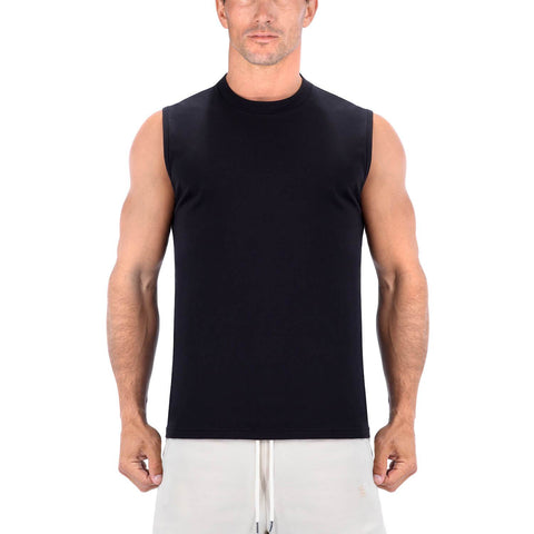 Born Tough Men Sleeveless Shirt Black
