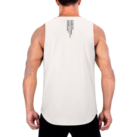 Born Tough Men Zippered Tank Stone