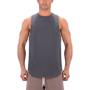 Born Tough Men Core Fit Tank Gray