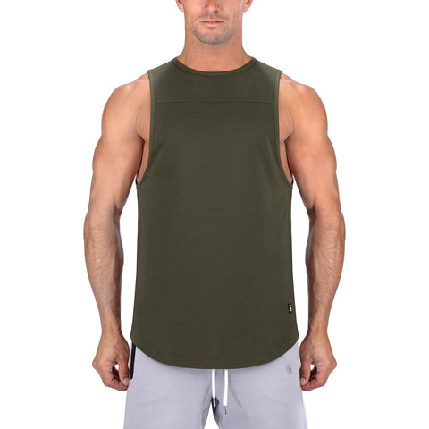 Born Tough Men Core Fit Tank Army Green
