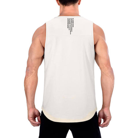 Born Tough Men Core Fit Tank Stone