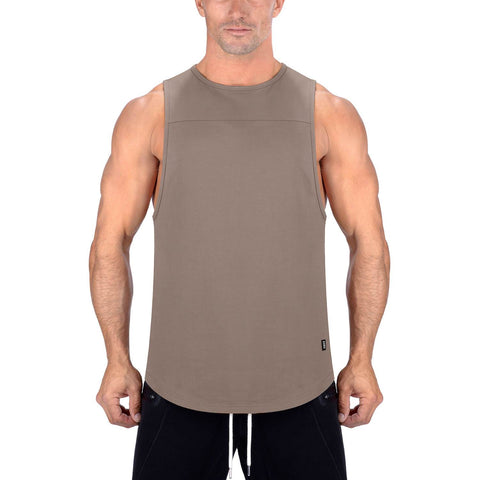 Born Tough Men Core Fit Tank Lunar Rock