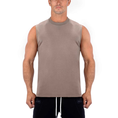 Born Tough Men Sleeveless Shirt Lunar Rock