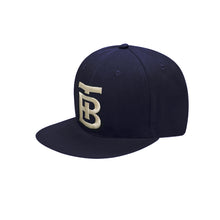 Born Tough Snapback Cap/Hat Navy Blue