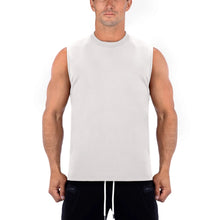 Born Tough Men Sleeveless Shirt Stone