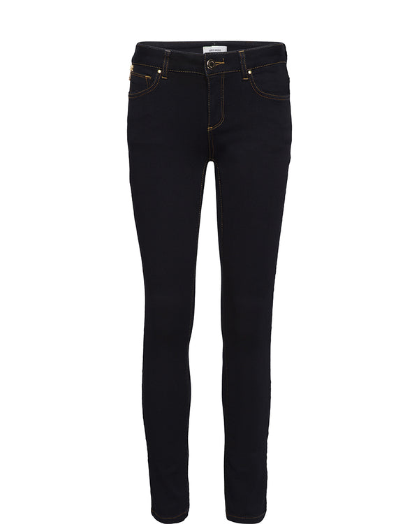 Mos Mosh Victoria 7/8 Silk Touch Jeans Dark Blue Denim