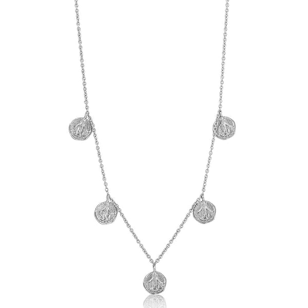Ania Haie Coins Short Beaded Necklace Silver