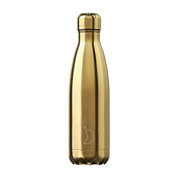 Chilly's Chrome Gold 500ml Water Bottle