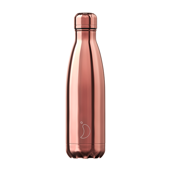 Chilly's Chrome Rose Gold 500ml Water Bottle