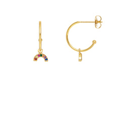 Estella Bartlett Mini Rainbow Drop Earrings