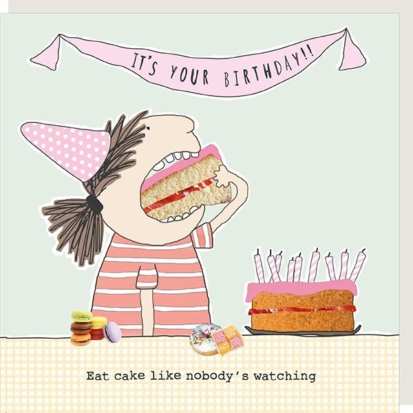 Rosie Made a Thing 'Eat Cake' Card