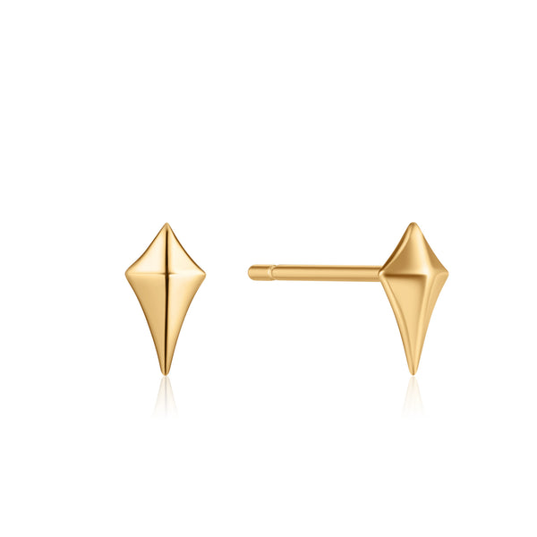 Ania Haie Gold Diamond Shape Stud Earrings