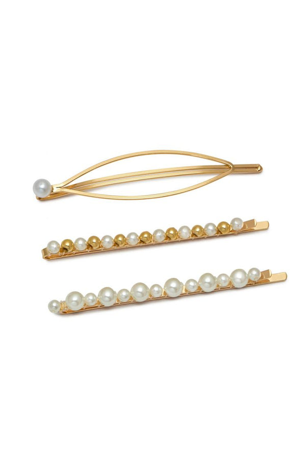 Estella Bartlett Pearl Trio Hair Slide Set