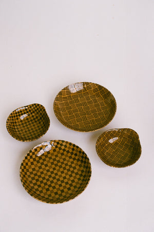 Checkered and Striped Small Bowls