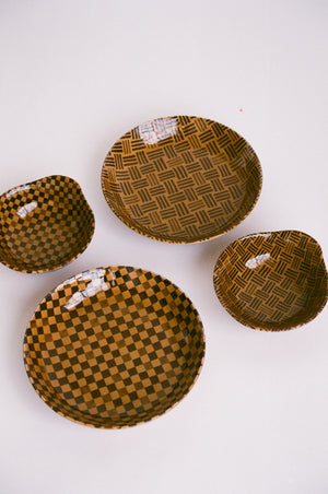 Checkered and Stripe Plate