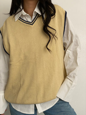 Vintage Mustard Knit Sweater Vest