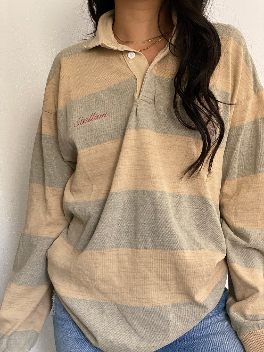 Vintage Long Sleeve Rugby Shirt