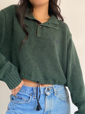 Vintage Reworked Crop Knit Pullover