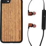 Walnut Wooden Bluetooth Ear-buds