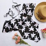Women Bikini Set Swimwear Push-Up Padded Print