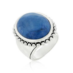Vintage Blue Cocktail Ring