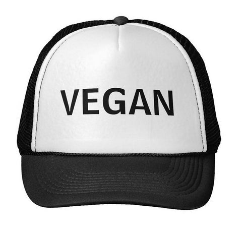 Vegan Trucker Hat Unisex Mesh Adjustable Size