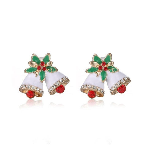 Wholesale Earrings Women Gift  Christmas Gifts Fashion Small Bell Earrings Christmas bell Earrings #45
