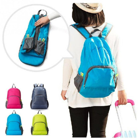 Outdoor Folding Travel Waterproof Nylon Backpack Outdoor Travel Bag