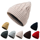 Knitted Skullies Beanies Women Winter Hats Solid Color Men Knit Crochet Slouchy Cap Fashion Unisex Warm Woolen Hat Beanie Caps