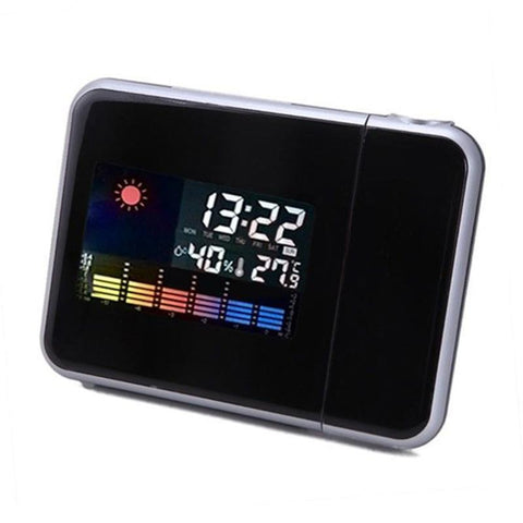 Weather Multi Function Digital Projection Clock Alarm Color Screen Calendar