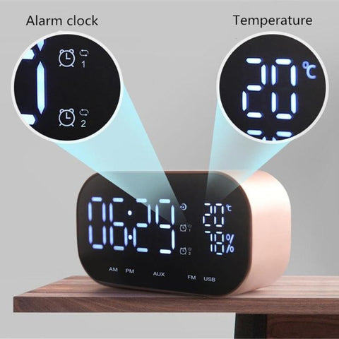 Mini Bluetooth Speaker Support Temperature LCD Display