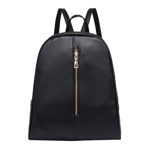 Woman Fashion Leather Backpack Female Preppy Style Zipper Mochila School Bag