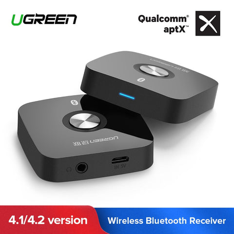 Ugreen 4.2 Wireless Bluetooth Receiver 3.5MM Aux receiver Audio Stereo Music Receiver Bluetooth Audio Adapter Car Aux Receiver