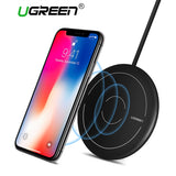 Ugreen Qi Wireless Charger for iPhone 8 X XS 8 Plus 10W Fast Wireless Charging Pad for Samsung Galaxy S8 S9 S7 Wireless Charger