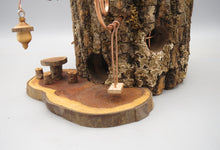 Fairy House With Miniature Fairy Dinette and Kinetic Swing, Black Walnut