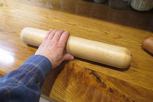 Rolling Pin, European Style Rock Maple Rolling Pin