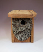 Bluebird Box, Rustic Bluebird Birdhouse, Hand-made Bluebird Box