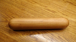 Rolling Pin, Dumpling Rolling Pin, Black Cherry European-Style Rolling Pin, Artisan Turned Small Rolling Pin