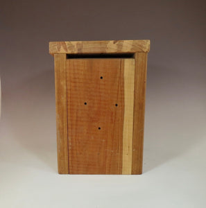 Bluebird Box, back view of Rustic Bluebird Birdhouse, Hand-made Bluebird Box
