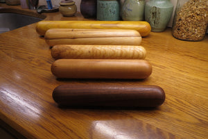 Rolling Pin, Dumpling Rolling Pin, Black Walnut European-Style Rolling Pin, Artisan Turned Small Rolling Pin