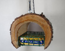 Natural cherry suet Feeder, schoolhousewoodcrafts.com