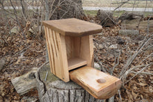 Bluebird House, Rustic Bluebird Birdhouse, Cherry Box, Wormy Elm Face and Roof, Ambrosia Maple Box