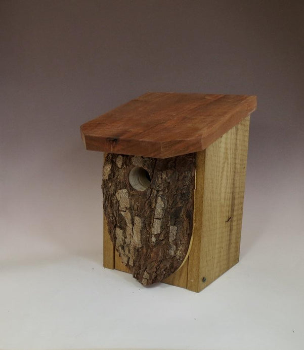 Bluebird House, Rustic Bluebird Birdhouse, Hand-made Bluebird Box,