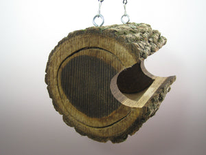 Bird feeder, birdfeeder, log bird feeder